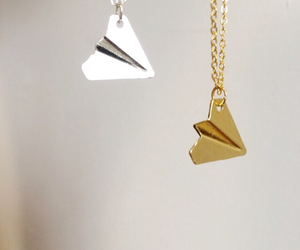 paper airplane, velvet, and harry styles necklace image