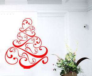 wall decals, christmas tree, and happy new year image