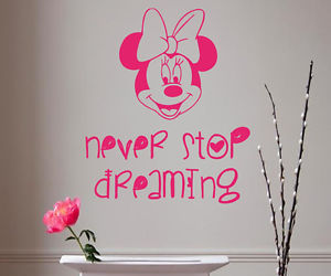 never stop dreaming, wall vinyl decals, and baby girl bedding image