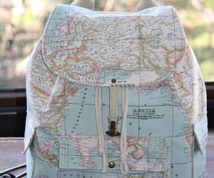 map, bag, and travel image