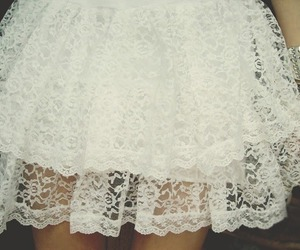 white, lace, and skirt image