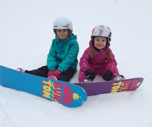 kids, snowboarding, and snow image