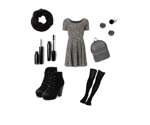 clothes, makeup, and Polyvore image