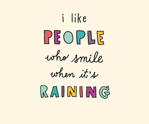 people, smile, and rain image