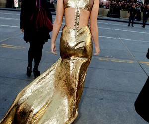 Jennifer Lawrence and gold image