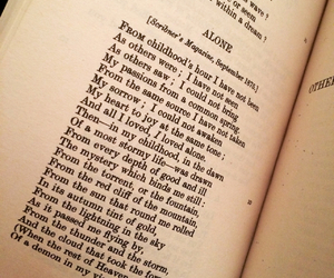 alone, edgar allan poe, and poem image
