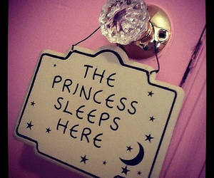 princess, pink, and bedroom image