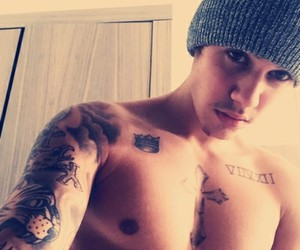justin bieber and boy tatoo image