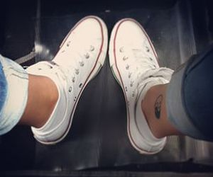 converse, hipster, and ink image