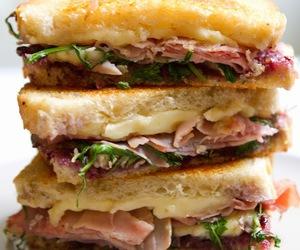 cheesy, food, and sandwich image