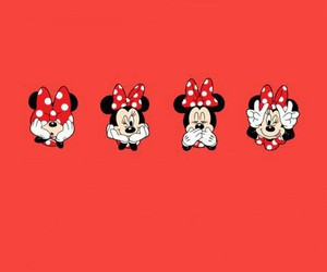 wallpaper, minnie, and red image