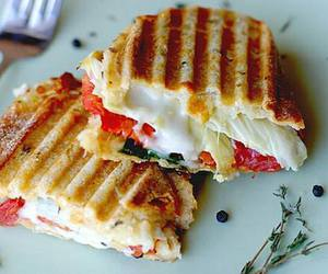 food, yummy, and sandwich image