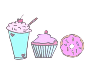 cupcake, donuts, and overlay image
