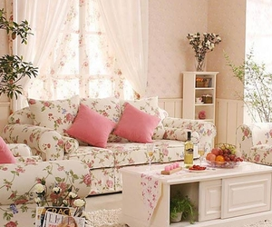 pink, decor, and room image