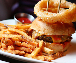 burgers, delicious, and fries image