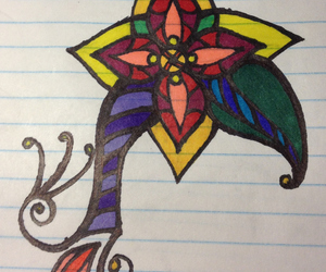 colourful, flower, and henna image