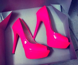 presents, heels, and pink image
