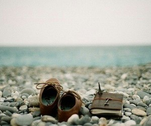 shoes, sea, and book image