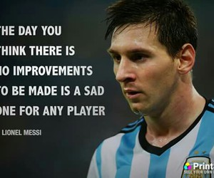 quote and messi image