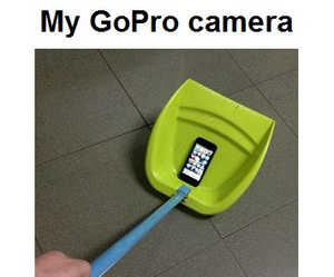 funny, gopro, and camera image