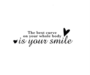 quote, smile, and overlay image
