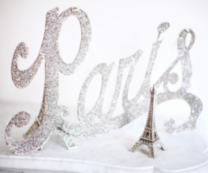 paris, silver, and eiffel tower image