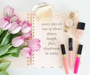 flowers, makeup, and chanel image