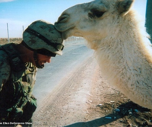 kiss, soldier, and love image