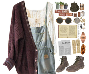 outfit, vintage, and retro image