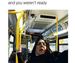funny, bus, and harry potter image