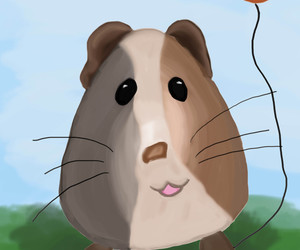 digital work, hamster, and cute image