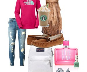 fashion, jeans, and pink image