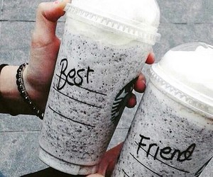 best friends, chocolate, and coffee image
