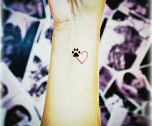 tattoo, love, and dog image