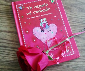 book, gift, and rose image