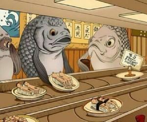 fish, animal, and food image