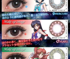 cosplay, sailormoon, and contactlens image