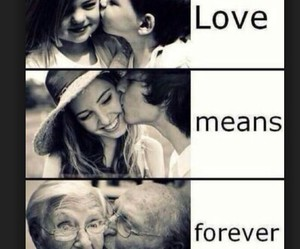 love, forever, and old image