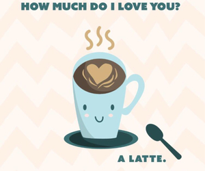 coffee, latte, and love image