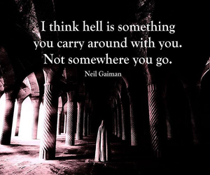 hell, quotes, and life image