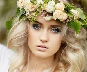 hairstyle, wedding, and beauty image