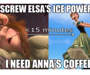 coffee, anna, and frozen image