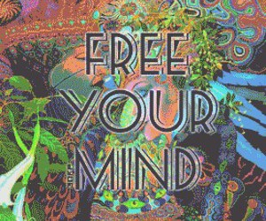 free, mind, and weed image