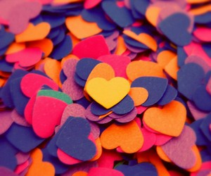 hearts love colors image