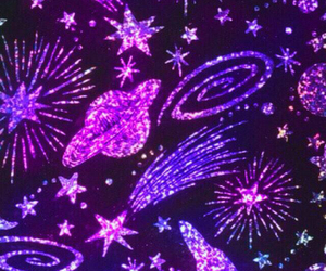 stars, purple, and space image