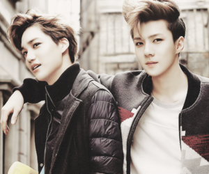 sehun, exo, and kai image