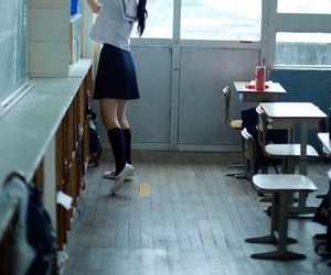 japan, school, and love image