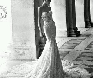dress, wedding dress, and wedding image