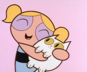cat, bubbles, and cartoon image