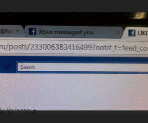 facebook, funny, and jesus image